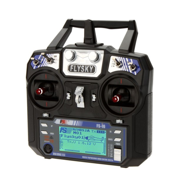 FlySky FS-i6 2.4GHz AFHDS 6CH RC Transmitter with FS-iA6B Receiver & FS-CVT01 Voltage Sensor